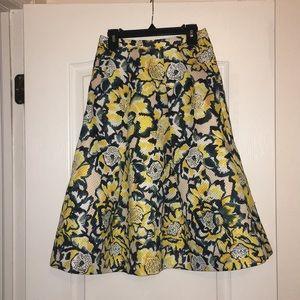 Floral H&M Midi Skirt